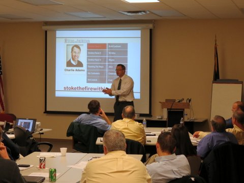 Charlie Adams delivers motivation to Sales Staff