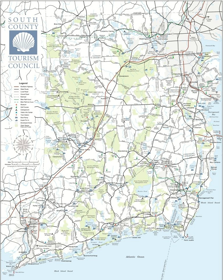 Read The Latest Innovations From South County Tourism Council - Rhode island county map