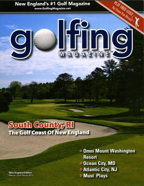 Golfing magazine March 2013