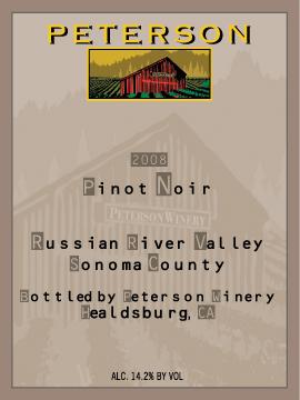 2008 Pinot Label