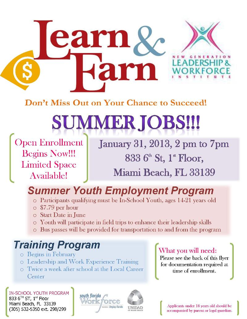 817 Summer Youth Employment Program TODAY!!!!!