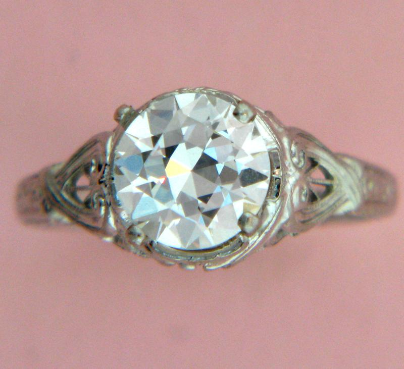 Lot 84A-  1.49ct. GIA H Color. VS1 Clarity Diamond Ring