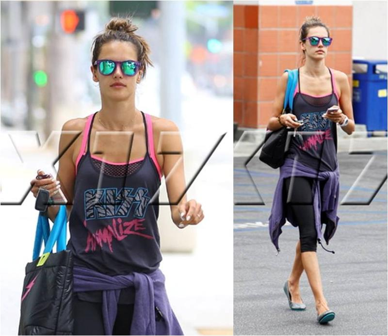 ... Industry Blog: Alessandra Ambrosio Works Out in Junk Food and Kitsch Alessandra Ambrosio