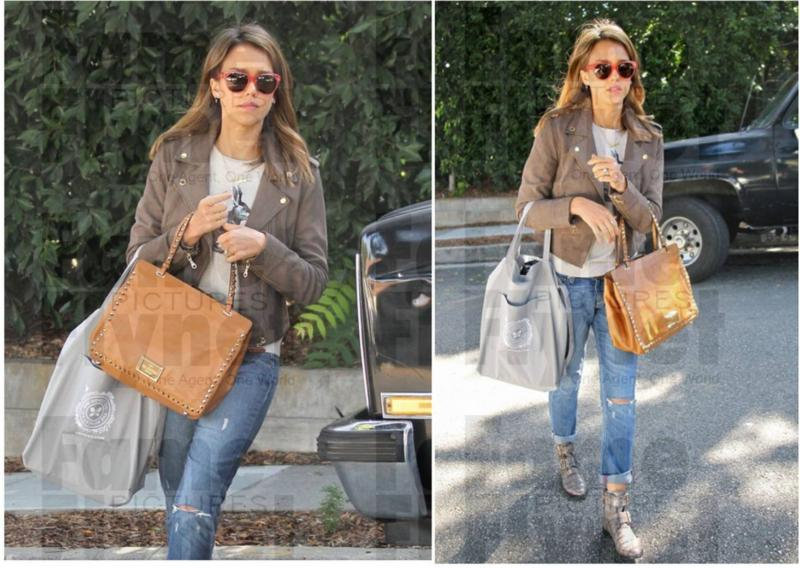 10719d4a6ca3 Jessica Alba Wearing Members Only