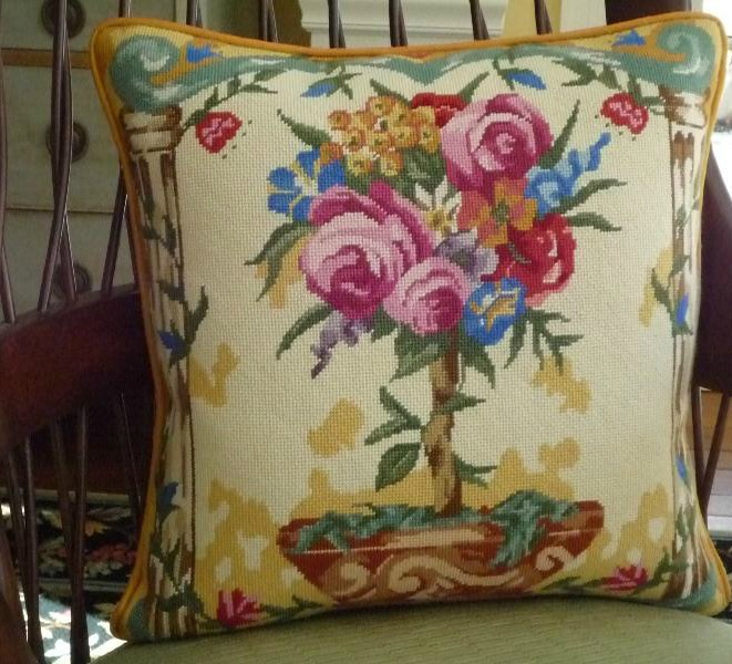 Floral Pillow From Living Room