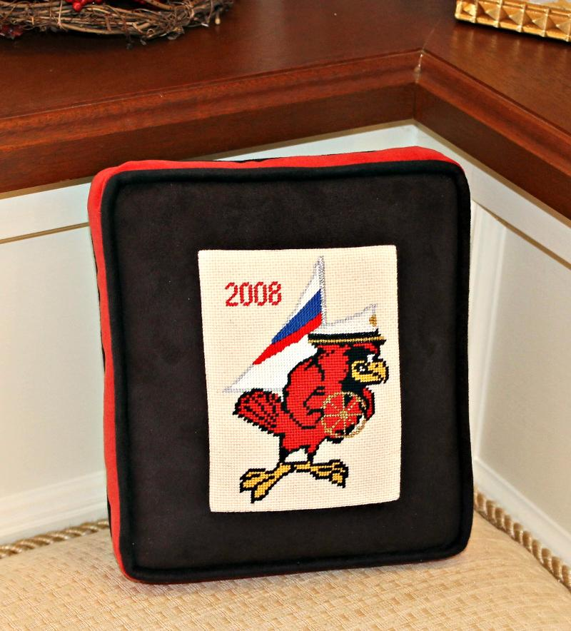Sailing Cardinal Pillow
