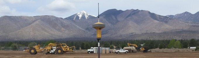 Photo  - Surveying equipment; Copeland Basin; San Francisco Peaks
