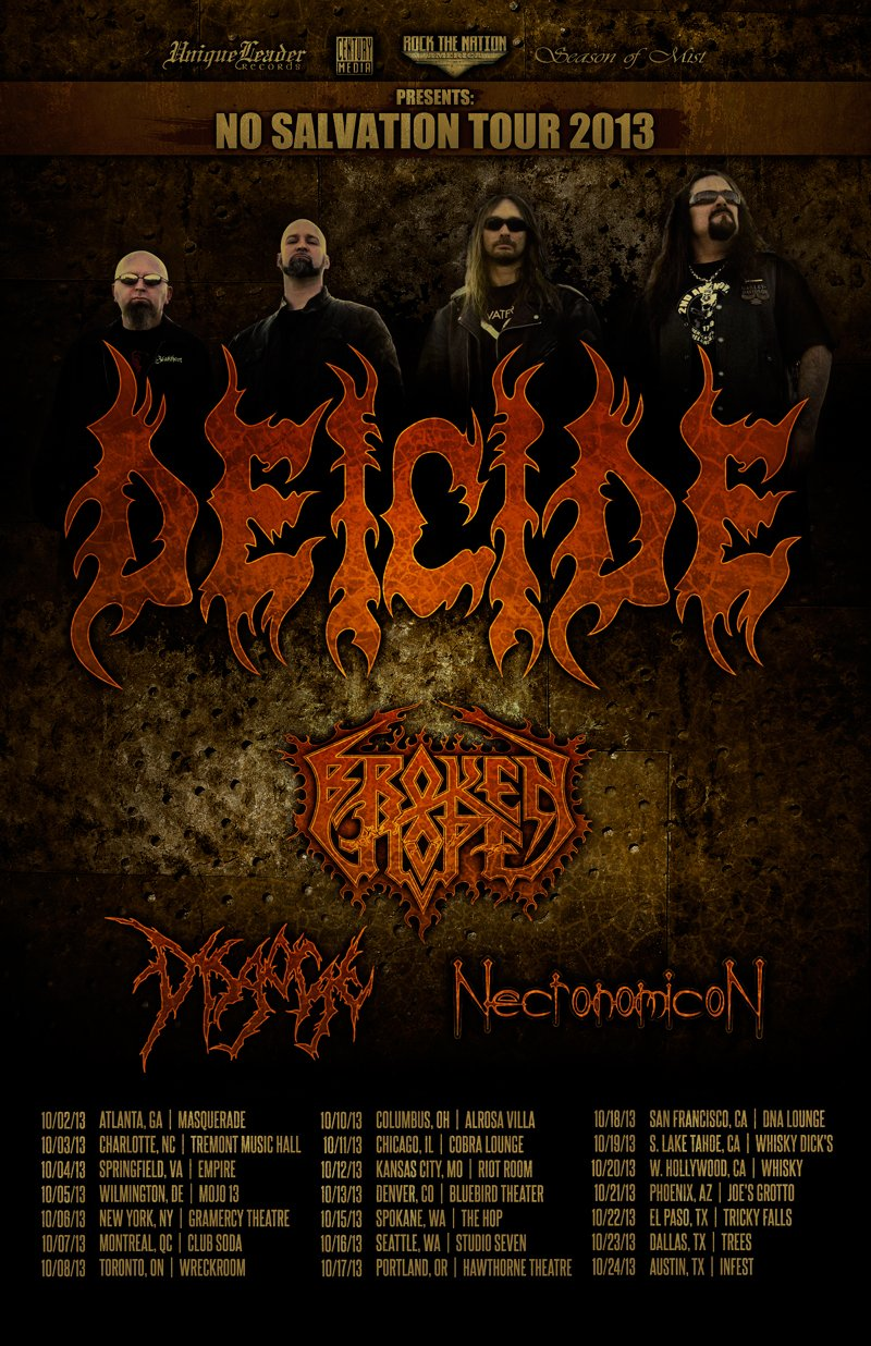 Deicide, Broken Hope tour