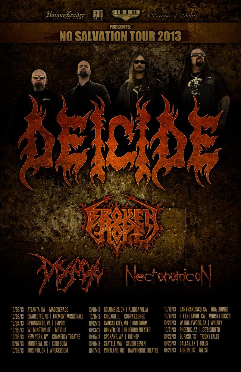 Deicide, Broken Hope tour
