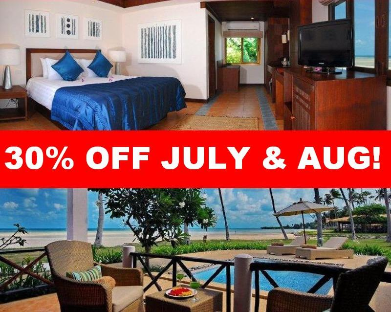 30% off July and August