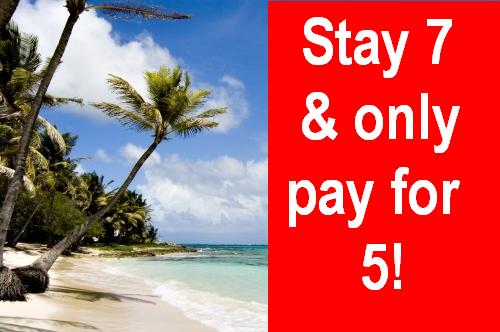 Stay 7 &amp only pay for 5!