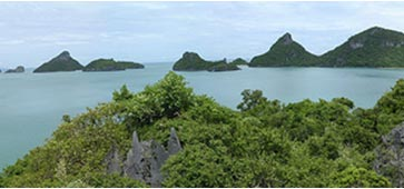 View of the islands around Samui