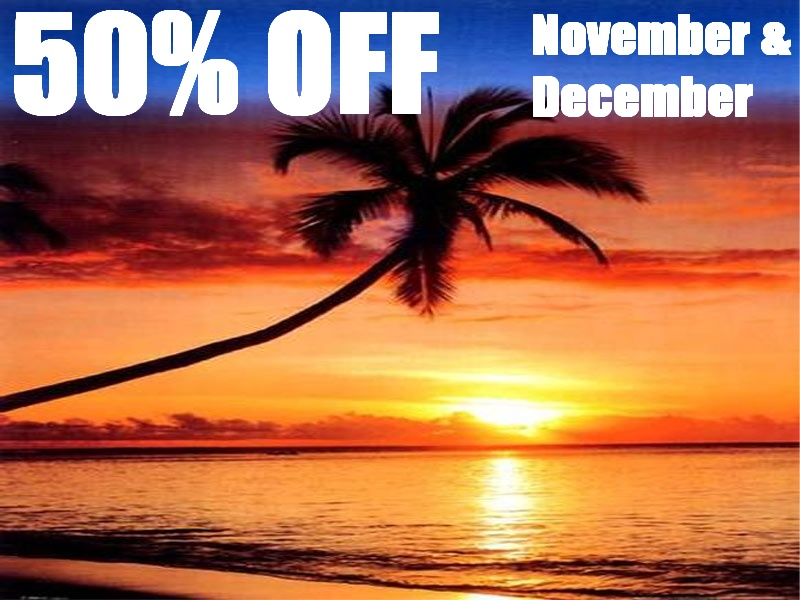 50% off Nov and Dec 2010
