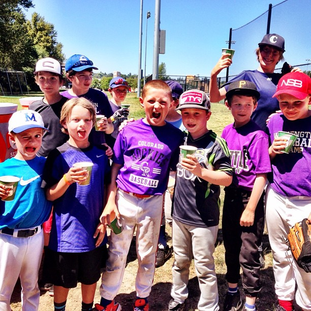 Campers keeping hydrated! #baseball #UW