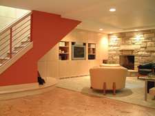 Family room remodeling after - Vermeland