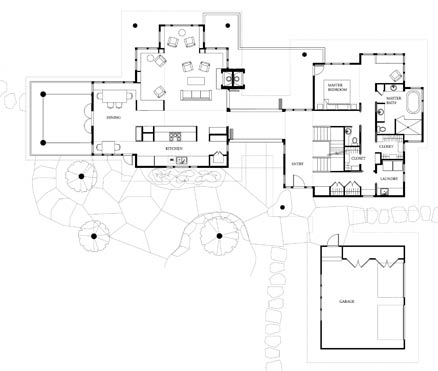 NC Mountain lake house floor plan