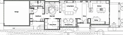 Showhouse first floor plan