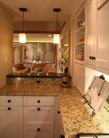 Showhouse granite countertops