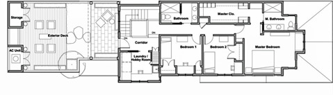Showhouse second floor plan
