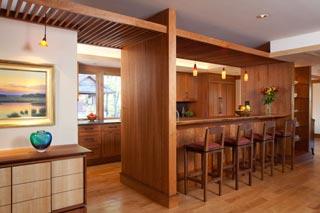NC Mountain Lake House kitchen