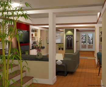 Not So Big Showhouse interior rendering