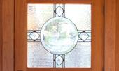 NC Lake House door window