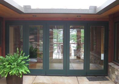 Breezeway with doors closed