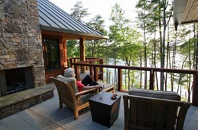 NC Mountain Lake House roof deck