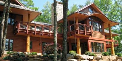 NC Mountain Lake House exterior