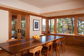 NC Mountain lake house formal dining
