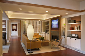 Showhouse living room cove lighting