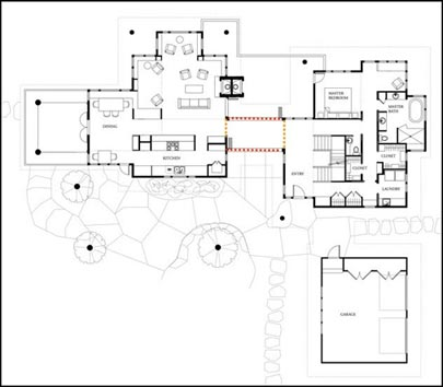 House plan with breezeway - House design plans