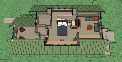 Not So Big Bungalow upper level plan