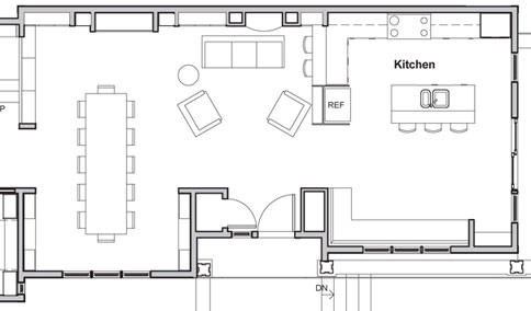 Showhouse formal dining arrangement