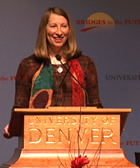 Sarah speaks at the University of Denver's Bridges to the Future Conference