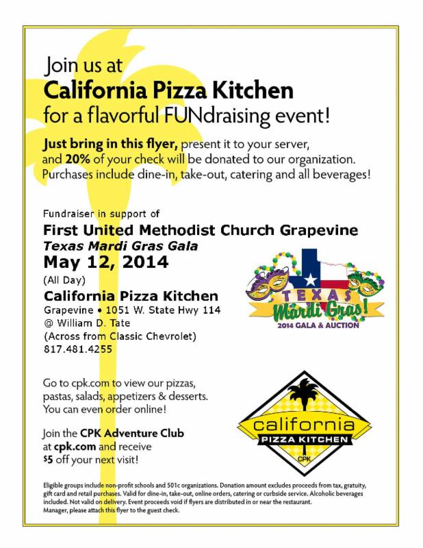 Pizza Fundraiser for the Gala