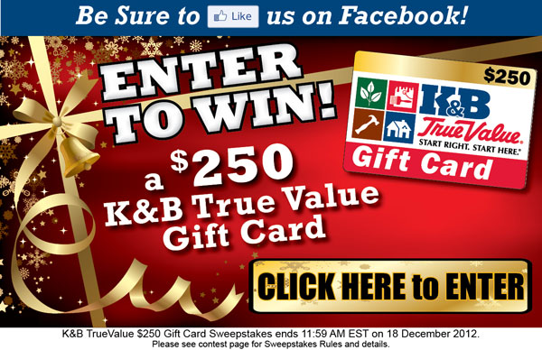 $250 Gift Card Sweepstakes