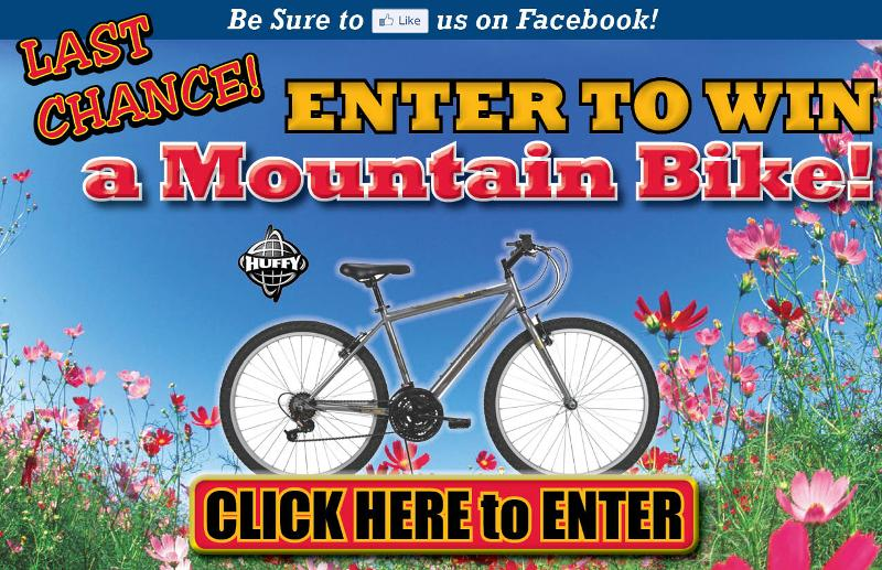 LAST CHANCE TO WIN Mountain Bike