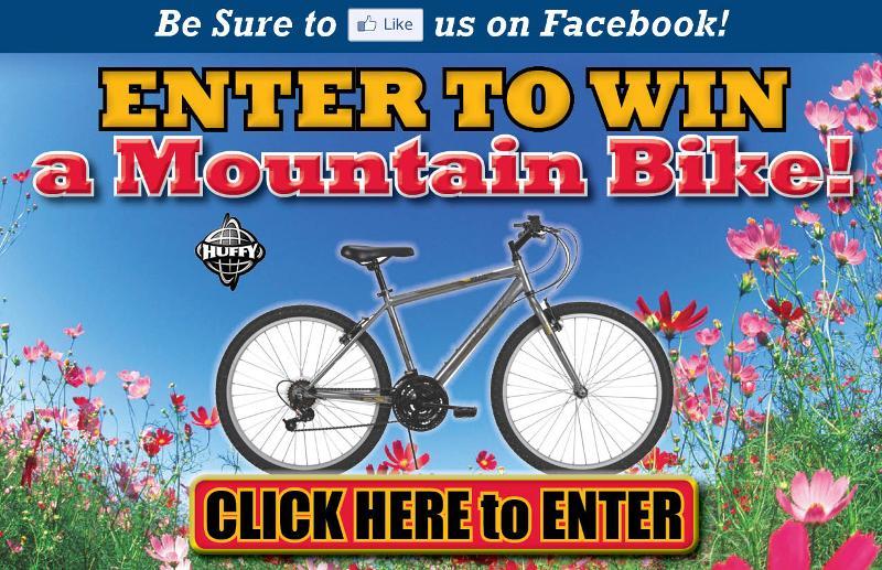 Enter to Win a Huffy Mountain Bike
