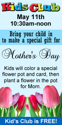 Mother's Day Kid's club