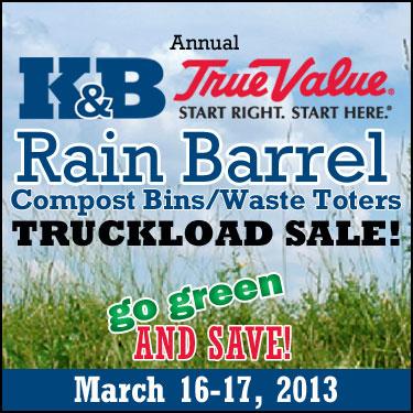 Rain Barrel Sale 2013