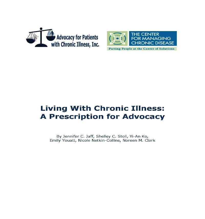 chronic illness paper cover