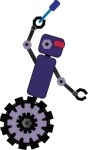 robot mascot purple-150