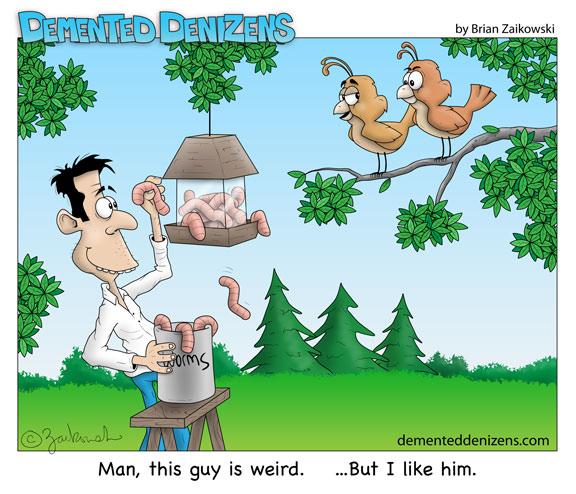 Bird Feeder Worms