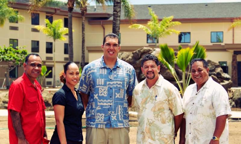 Courtyard by Marriott Executive Team (left to right): Iafeta Sao, Heina Hanohano, Micah Casey, Milton Lafitaga, David Betham