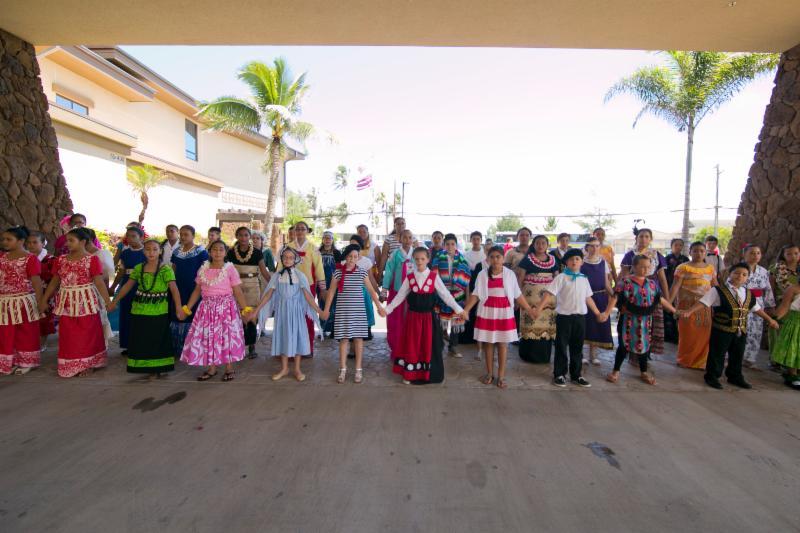 The Ko'olauloa Children's Chorus sang