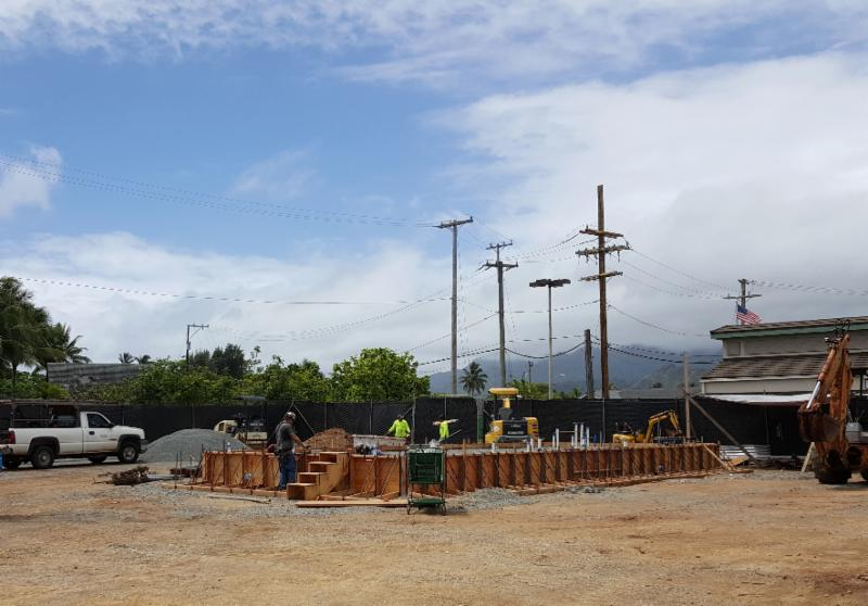 Construction site of the new Foodland/Aloha gas station