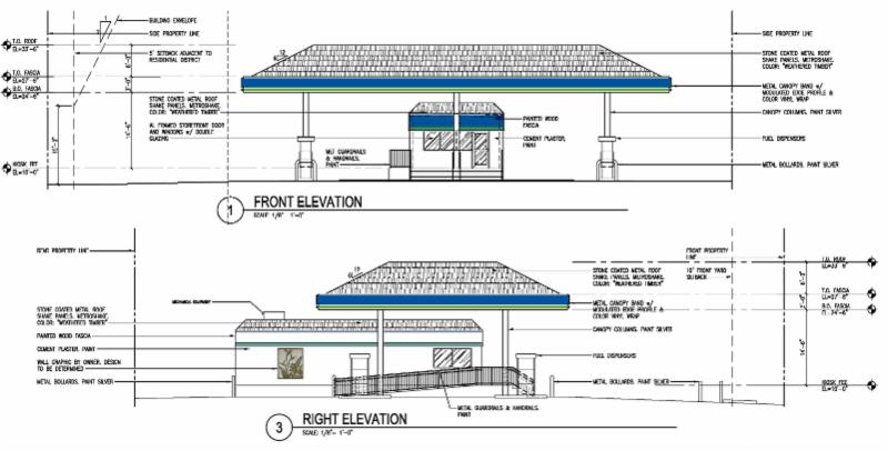 Elevation renderings from building permit application