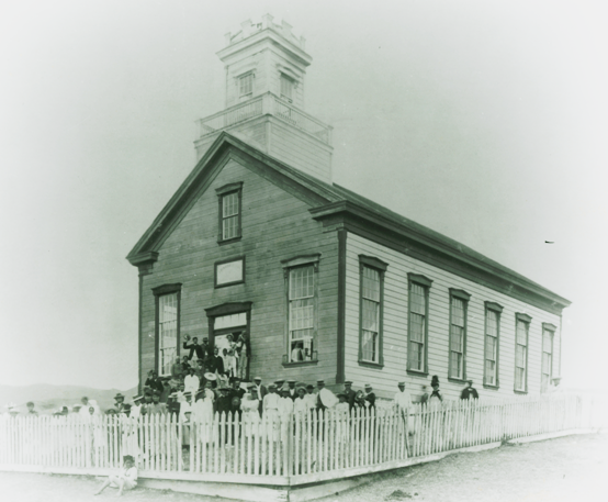 I Hemolele Chapel in the 1880s (this photo and others below courtesy BYU-Hawaii Archives)
