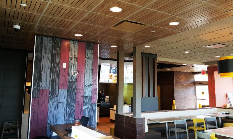 The work is almost done on the Laie McDonald's